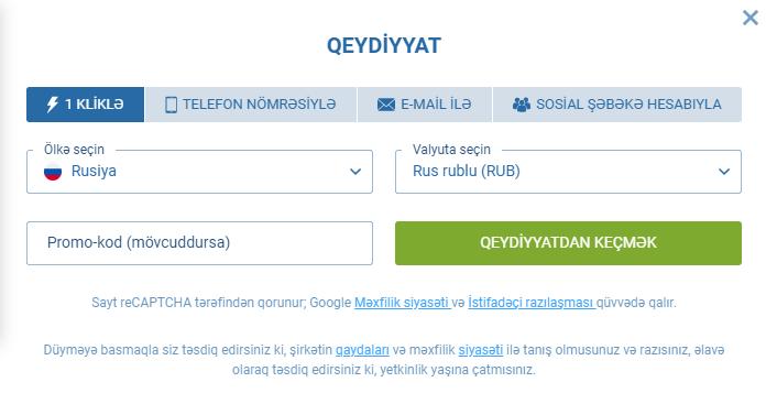 1xBet Azərbaycan giriş